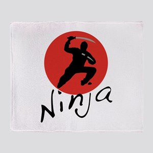 Ninja Ninja Throw Blanket