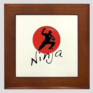 Ninja Ninja Framed Tile