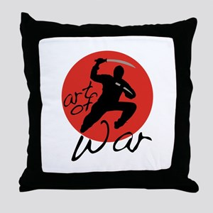 Ninja Art of War Throw Pillow