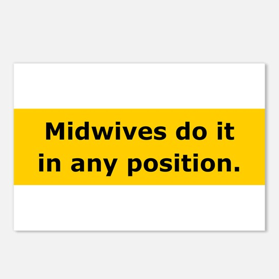 Midwives Do It Postcards (Package of 8)