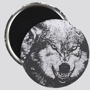 Snarling Wolf Magnets