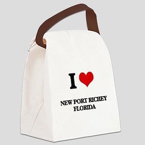I love New Port Richey Florida Canvas Lunch Bag