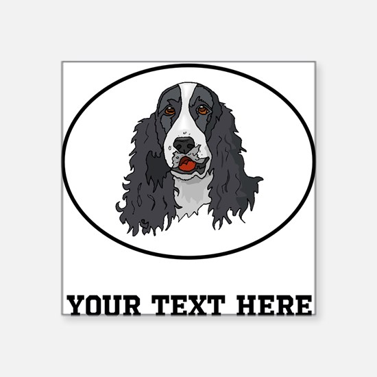 custom springer spaniel sticker