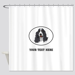 Custom Springer Spaniel Shower Curtain