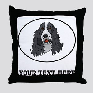 Custom Springer Spaniel Throw Pillow