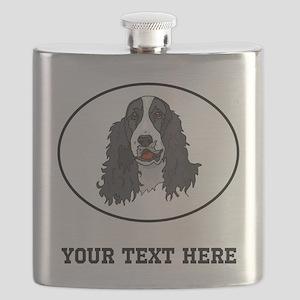 Custom Springer Spaniel Flask
