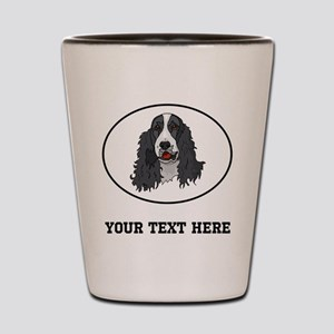 Custom Springer Spaniel Shot Glass