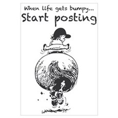 When life Gets Bumpy Framed Print
