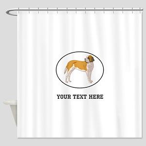 Custom Saint Bernard Shower Curtain
