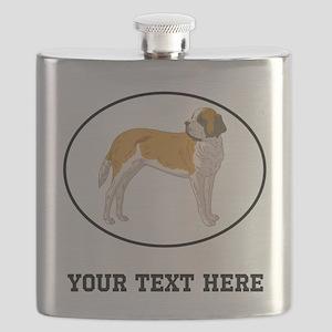 Custom Saint Bernard Flask