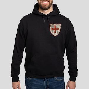 Templar Cross, Shield Hoodie (dark)