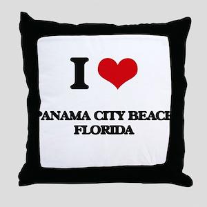 I love Panama City Beach Florida Throw Pillow