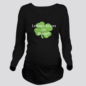 Leprechaun on Board Long Sleeve Maternity T-Shirt