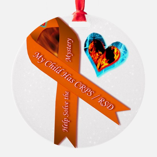 My Child Has CRPS RSD Fire & Ice He Ornament