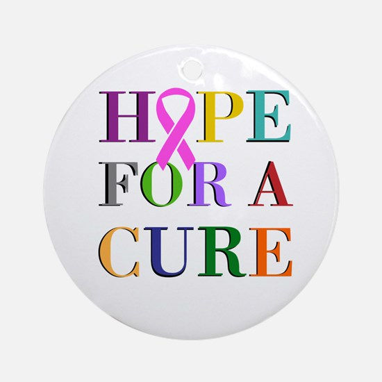 Hope For A Cure Ornament (Round)