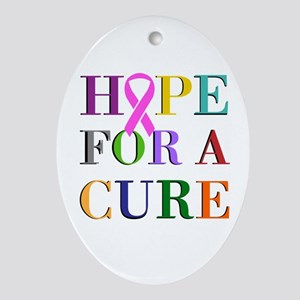 Hope For A Cure Ornament (Oval)