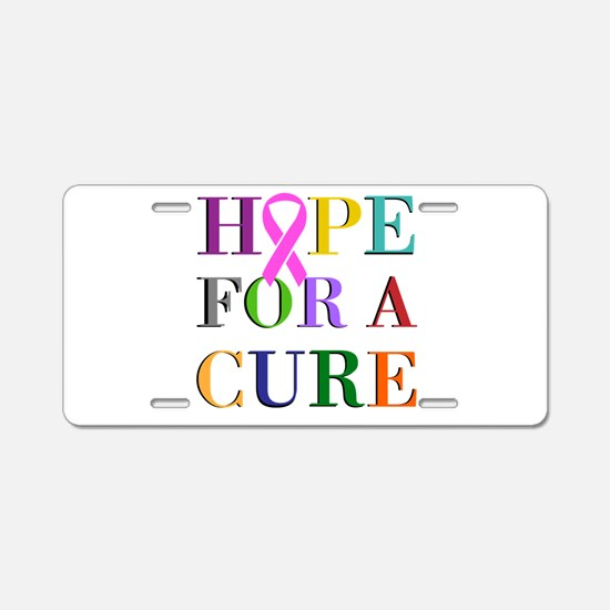 Hope For A Cure Aluminum License Plate