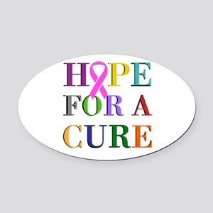 Hope For A Cure Oval Car Magnet