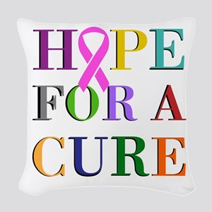 Hope For A Cure Woven Throw Pillow