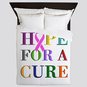 Hope For A Cure Queen Duvet