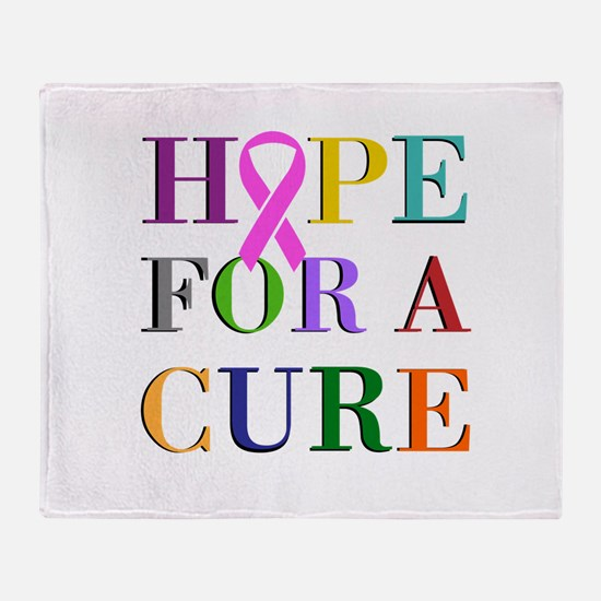 Hope For A Cure Throw Blanket