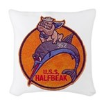 USS HALFBEAK Woven Throw Pillow