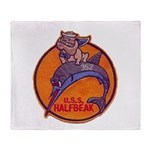 USS HALFBEAK Throw Blanket
