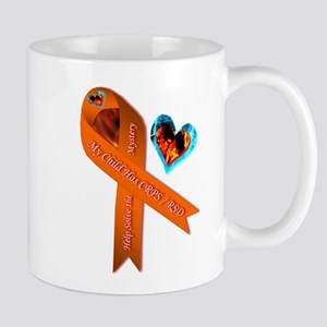 My Child Has CRPS RSD Fire & Ice Heart Mugs