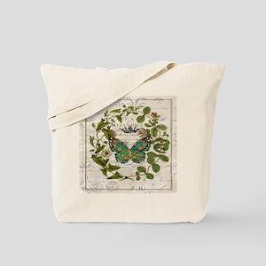 vintage botanical art butterfly Tote Bag