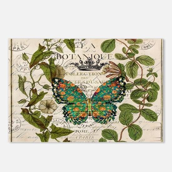 vintage botanical art but Postcards (Package of 8)