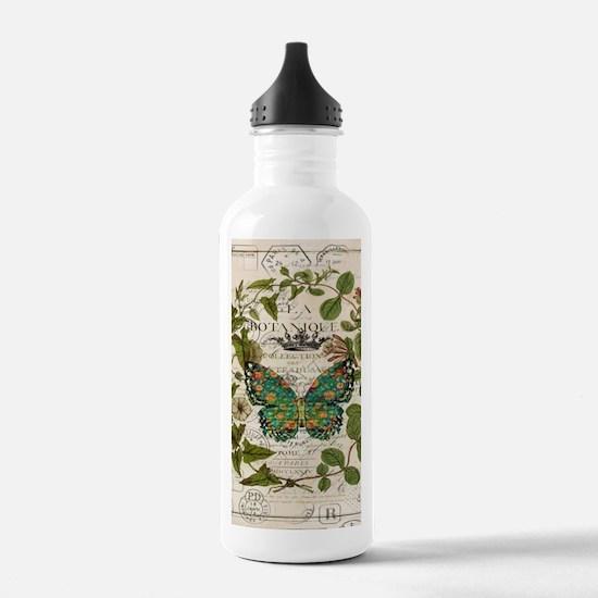 vintage botanical art Water Bottle