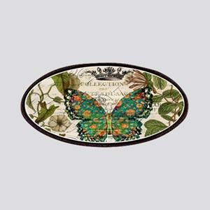 vintage botanical art butterfly Patch