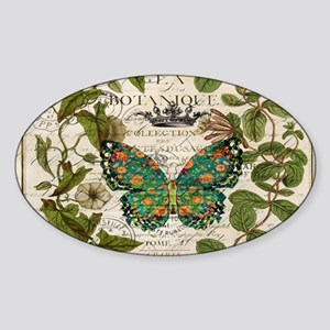 vintage botanical art butte Sticker