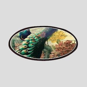 Paris vintage peacock Patch