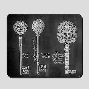 chalkboard french vintage keys  Mousepad