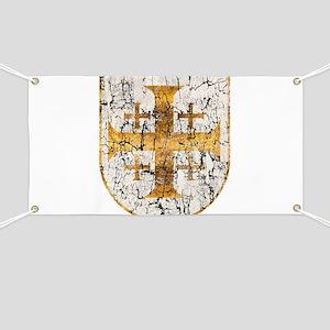 Jerusalem Cross, Distressed Banner