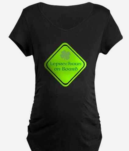 Leprechan on Board Sign Maternity T-Shirt