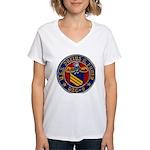 USS JULIUS A. FURER Women's V-Neck T-Shirt