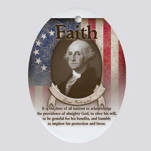 George Washington - Faith Ornament (Oval)