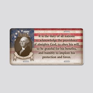 George Washington - Faith Aluminum License Plate