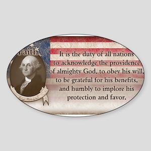 George Washington - Faith Sticker