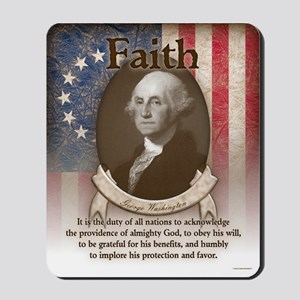 George Washington - Faith Mousepad