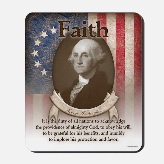 George Washington - Faith Mousepad
