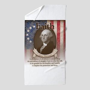 George Washington - Faith Beach Towel