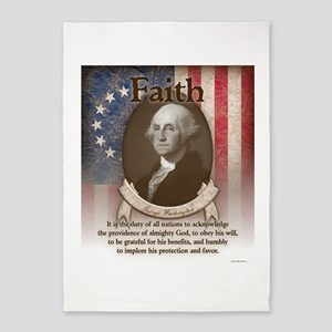 George Washington - Faith 5'x7'Area Rug