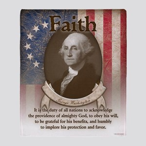 George Washington - Faith Throw Blanket