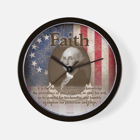George Washington - Faith Wall Clock