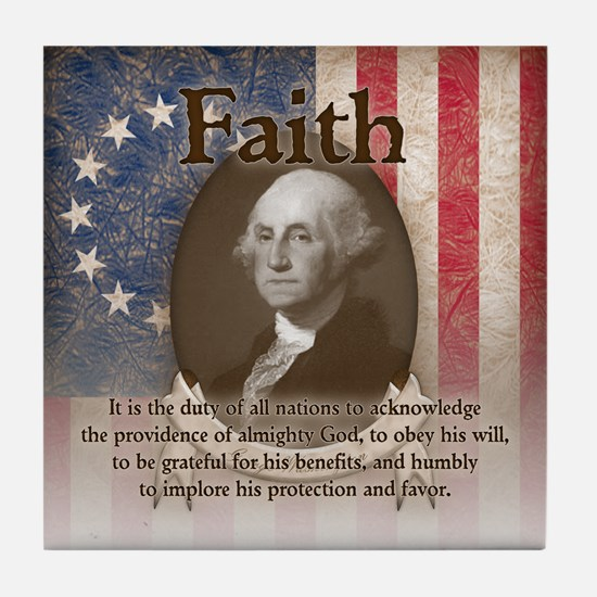 George Washington - Faith Tile Coaster
