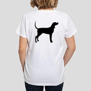Coonhound Dog (#2) Women's V-Neck T-Shirt