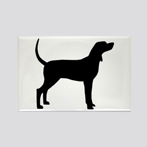 Coonhound Dog (#2) Rectangle Magnet